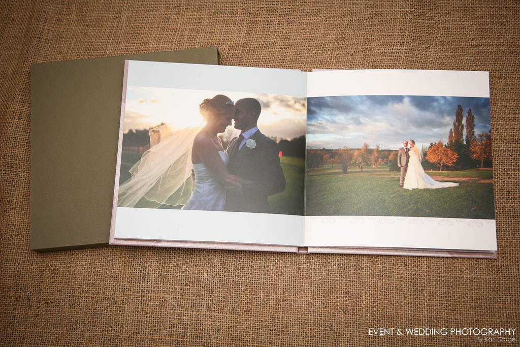 The pages are 380gsm and are designed to lay flat.