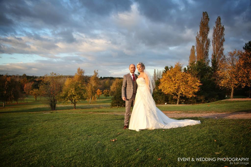 A beautiful autumn wedding at Abbey Hill Golf Centre.