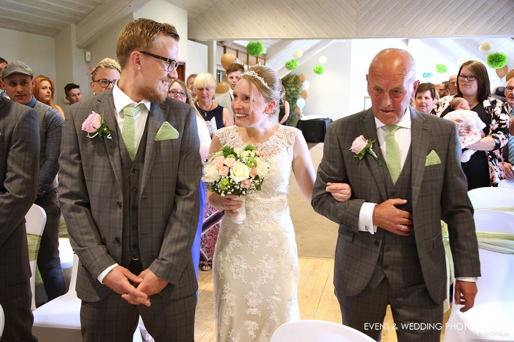 True Love - That moment when the bride and groom first set eyes on one another on their wedding day - by Northamptonshire wedding photographer Karl Drage