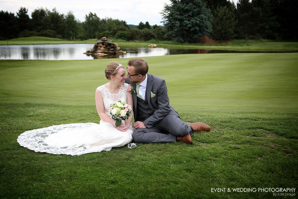 The very picturesque Brampton Heath Golf Centre, near Northampton.