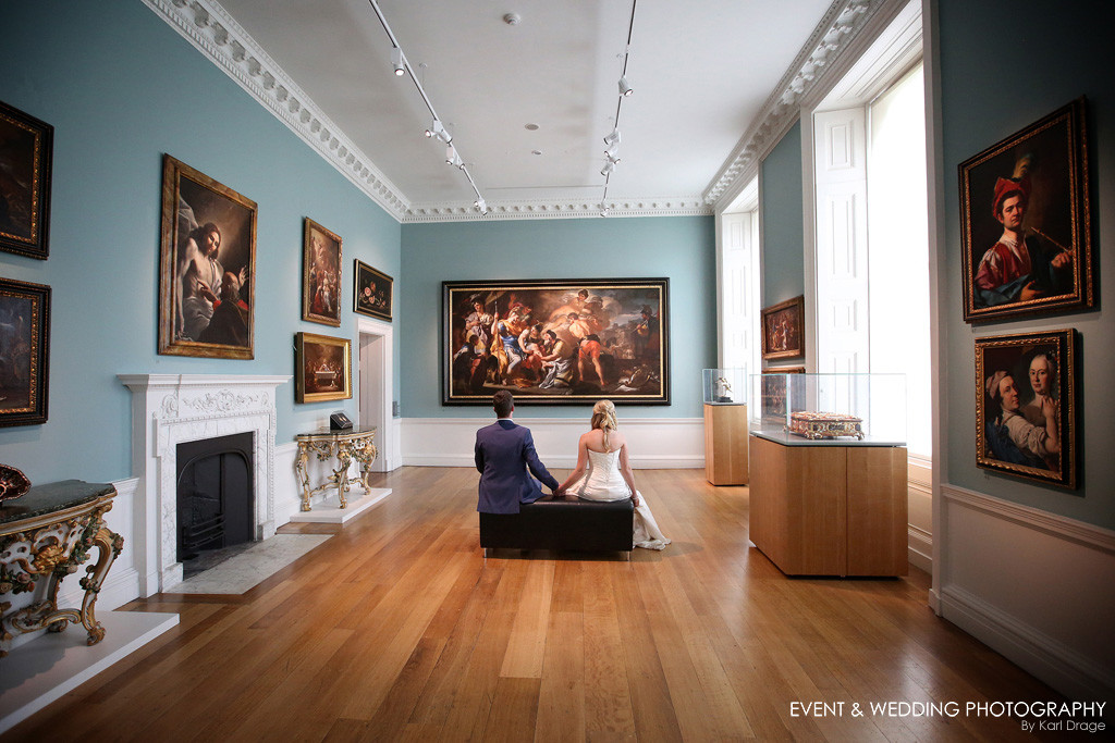 A wedding at the stunning art gallery at Compton Verney in Warwickshire.