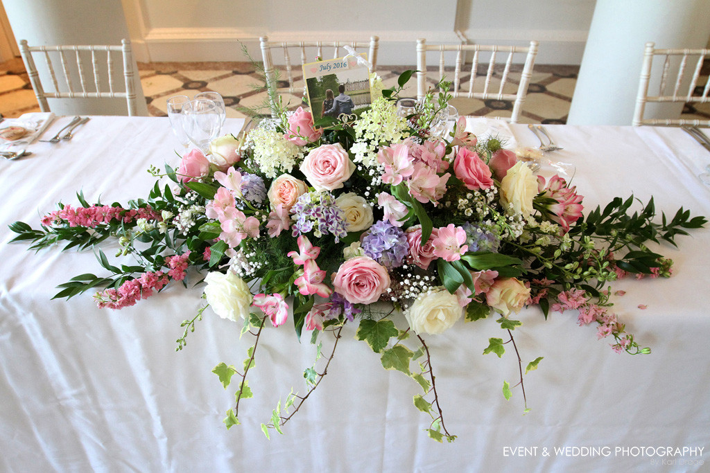 Floral decorations, by Northamptonshire wedding photographer Karl Drage