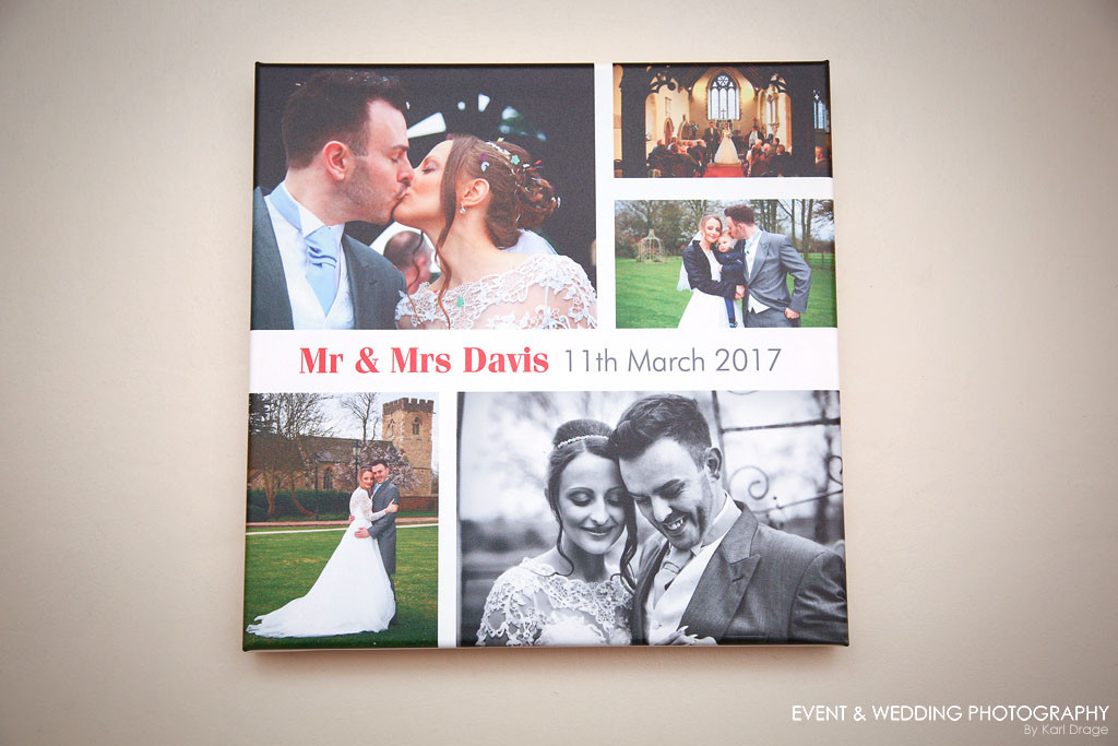 New from September 2017, collage canvases can be added to your package in your choice of three sizes.