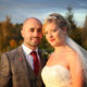 Stunning colours for this autumn wedding day.