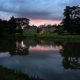 Sunset at the stunning Compton Verney wedding venue.