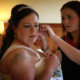The finishing touches ahead of the wedding ceremony.