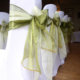 Stretch lycra wedding chair covers and sashes.