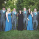 Relaxed group shots after a Barnwell wedding ceremony.