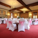 A beautifully-decorated reception room at Scalford Hall, Melton Mowbray.