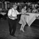 Dance lessons at a 1940s-themed night in Market Harborough in aid of the breast cancer charity Coppafeel.